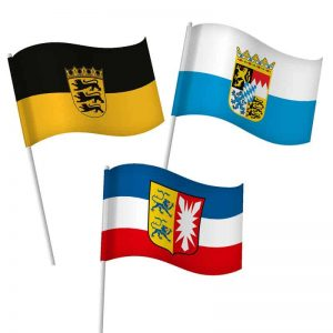 Bundesländerfahnen als Schwenkfahne