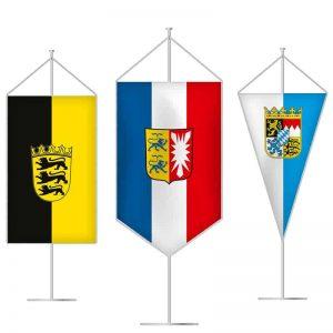 Bundesländerfahnen als Tischbanner