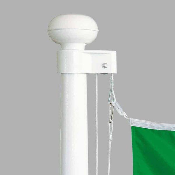 Standard-Hissvorrichtung GfK-KSH: Außenliegendes Perlon-Hissseil mit Kautschenpressung