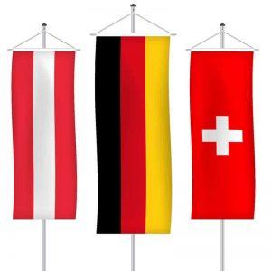 Nationalfahnen als Bannerfahne
