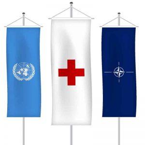 Organisationsfahnen als Bannerfahne