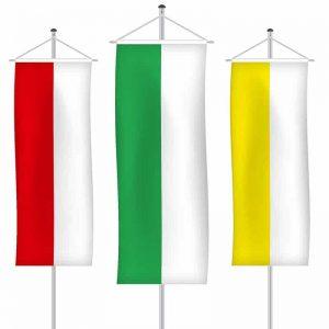 Streifenfahnen als Bannerfahne