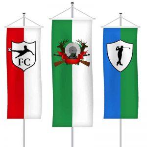 Vereinsfahnen als Bannerfahne