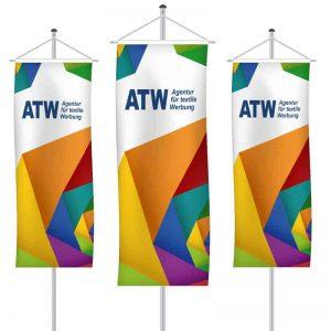 Werbefahnen als Bannerfahne